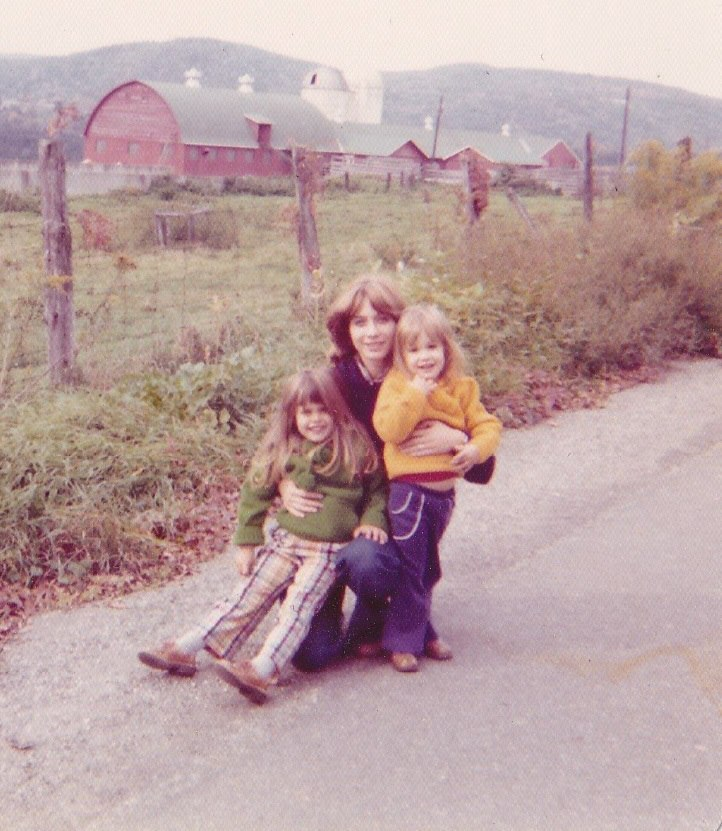 My sister and me growing up with our mom in the '70s.